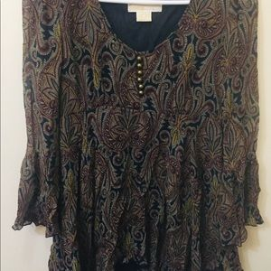 Michael Kors Boho Style Blouse Sz. Small for Fall